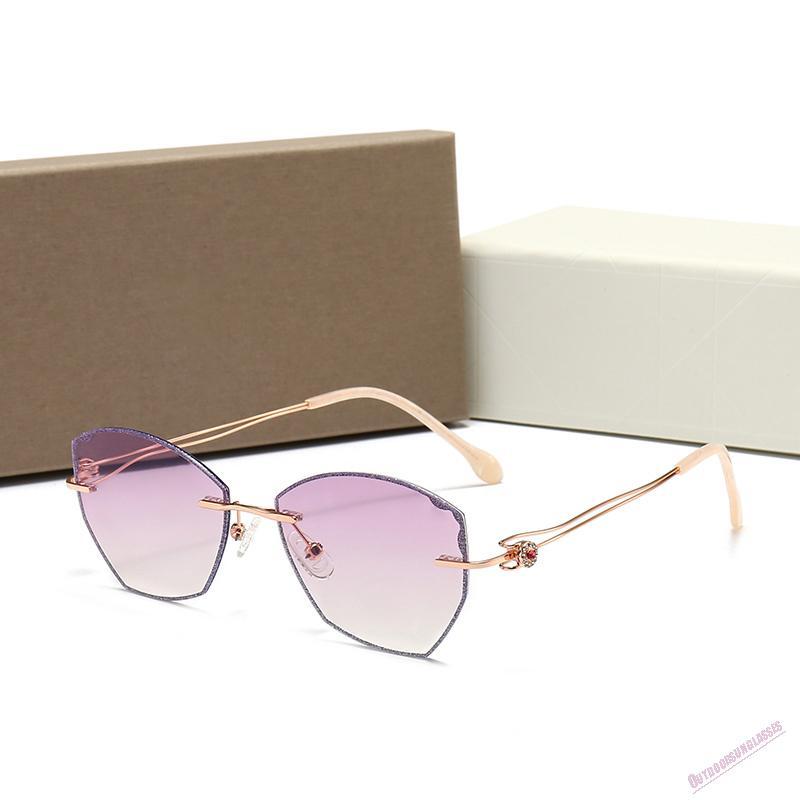 Con gafas Caja clásica Cuero plegable UV400 Vidrio Marco piloto Retro Gafas de sol Lente Protección de moda EAIKA