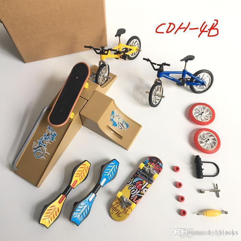Dedo coche bicicleta juguete mini modelo bicicleta scooter aleación creativa vitalidad tablero simulación niño niños cumpleaños para regalo isghc