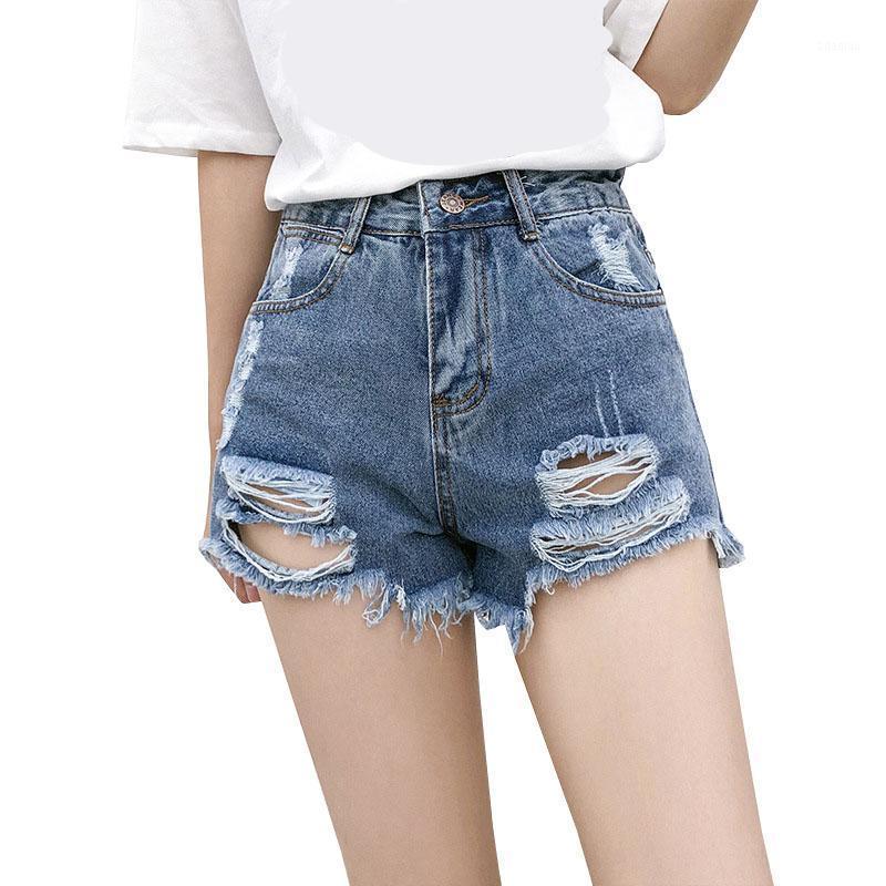 Chsdcsi джинсовые шорты женские летние моды дамы синие кисточка дыры высокой талией казуал джинсы сексуальные серые высококачественные мини шорты1