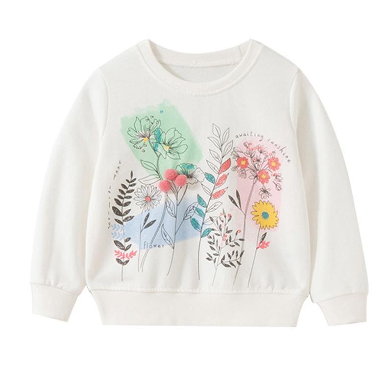 هوديس بلوزات صغيرة مافن الفتيات القطن زهرة ملابس الطفل ملابس الأطفال قمصان طفل أطفال بلوزة