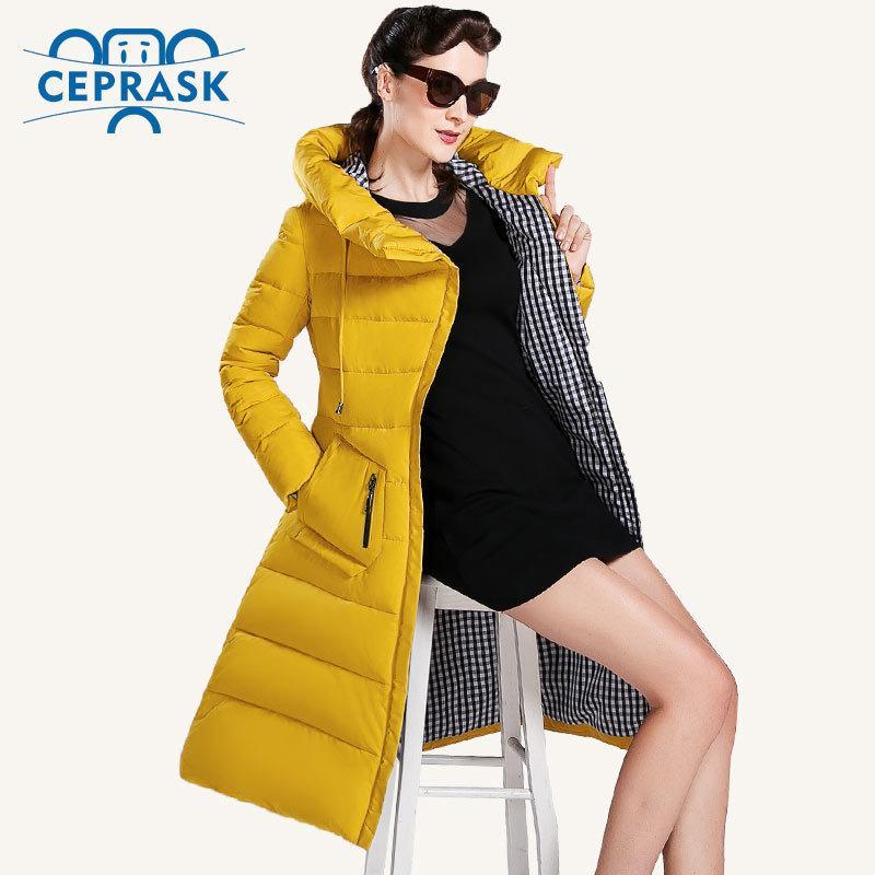 CEPRASK New Winter Jacket Women Plus Size Long Fashionable Women's Winter Coat Hooded High Quality Warm Down Jacket Parka 201016