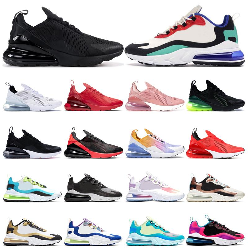 270 mens trainers react running shoes Triple Red Bright Crimson Platinum Volt BAUHAUS Oracle Aqua Easter womens fashion sports sneakers