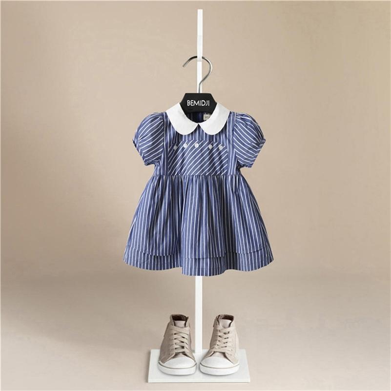 Детские девочки Летнее платье Принцессы Костюм 2020 Детская вечеринка Платья для девочек Одежда для девочек Короткое платье с коротким рукавом Детская одежда T200709