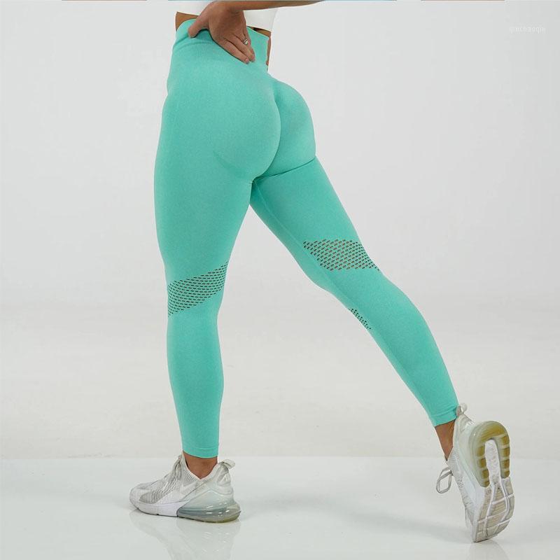 Outfits Йоги Бесшовные брюки Женщины Пустые Высокие Спортивные Леггинсы Спортивные Леггинсы Tummy Упражнение