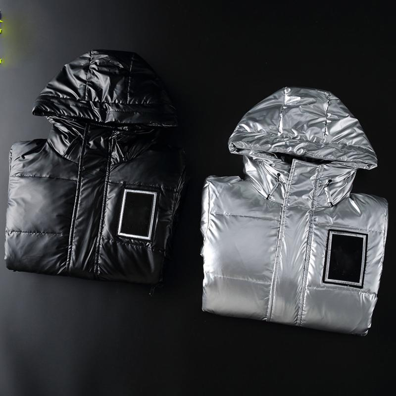 Fashion Down Jacket Mens Outdoor Calda Piuma Giacca invernale in Down-riempito con cappuccio Cappotto di spessore Outwear Ricamo Lettera Nero Top Parka Designer