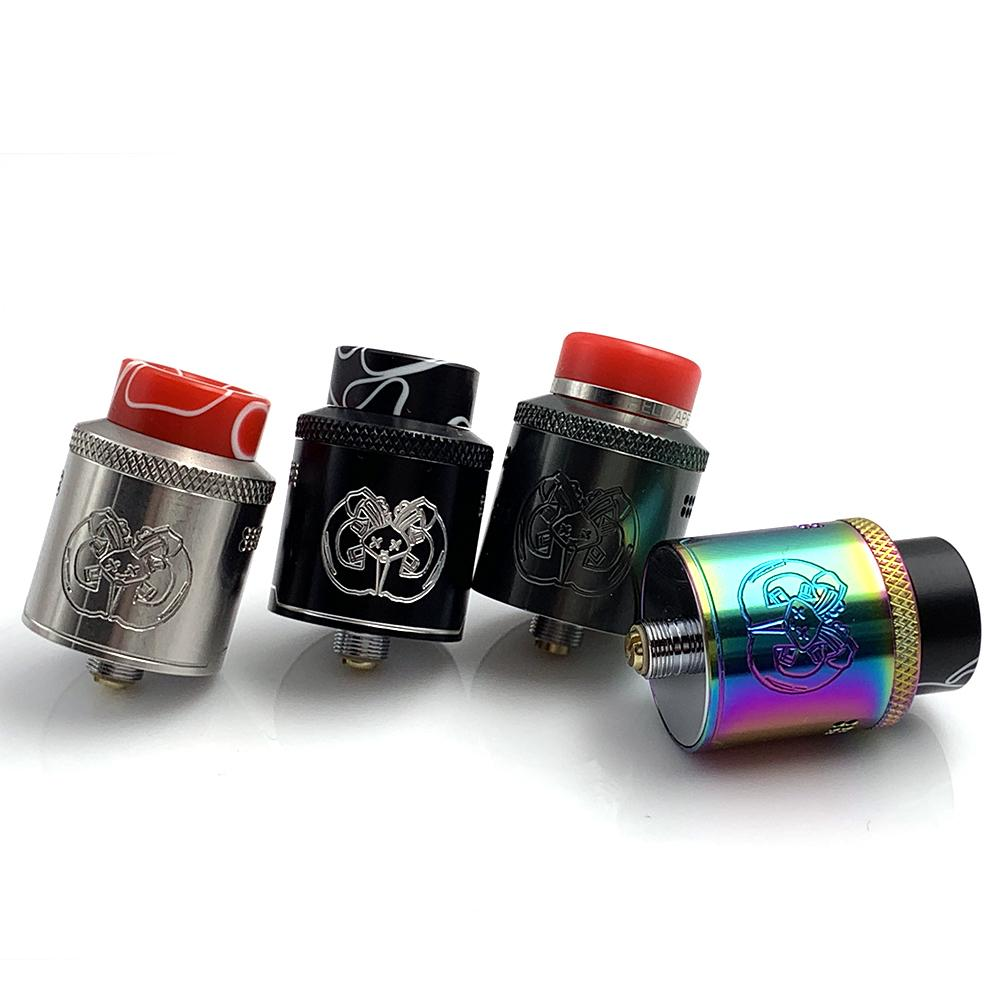 Best Price Drop Dead RDA Adjustable Airflow 24mm with 810 Resin drip tip BF Squonk 510 Pin Vape Single Dual Coil Tank Atomizer