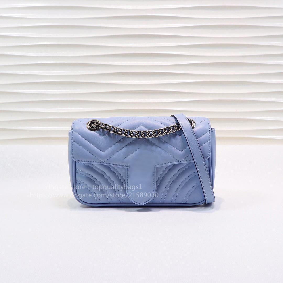 Fashion Classic Hot Designer 2021 Qualità Genuine Pelle Top Donna 22 cm Luxurys Shipin Bag Venduto Nuovo Crossbody GRATIS SHOU OOMQH