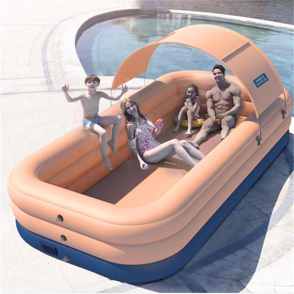 Customized PVC Wireless Automatic Inflated Swimming Pools,Kiddie Pools,Family Lounge Pools,Family Swimming Pool With Mat for Kids,Adults