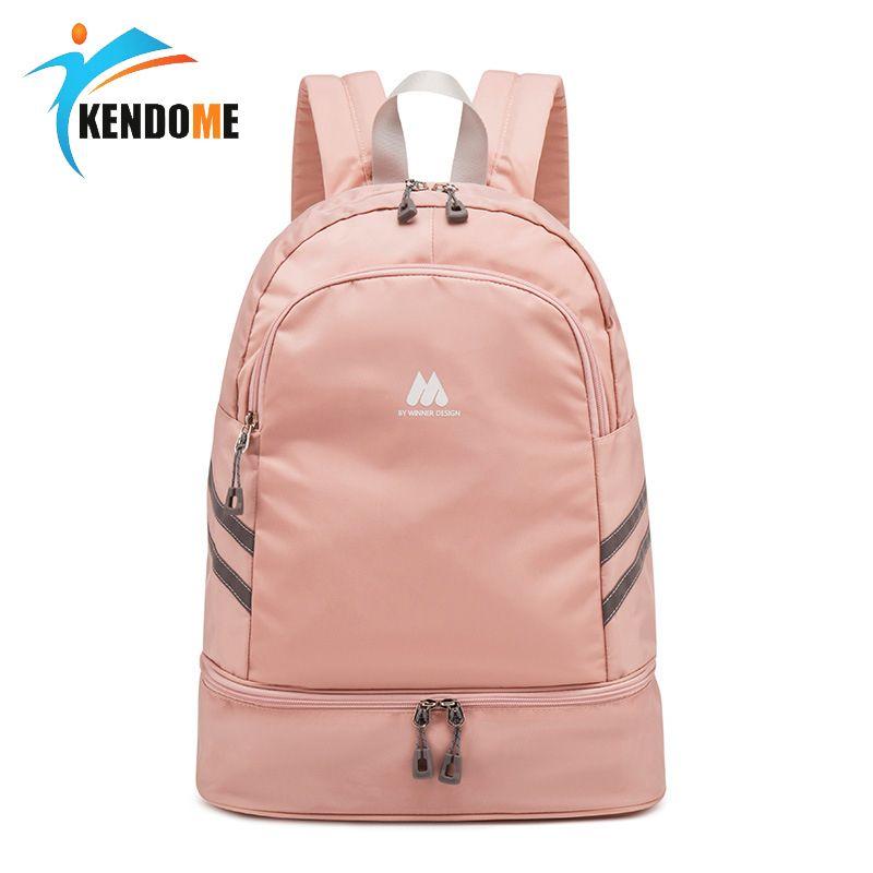 Женщины розовый спортивный тренажерный зал сумка водонепроницаемая фитнес плавание рюкзак рюкзак йога тренировки обуви для обуви багажник сумка багажник SAC de Sport 201023