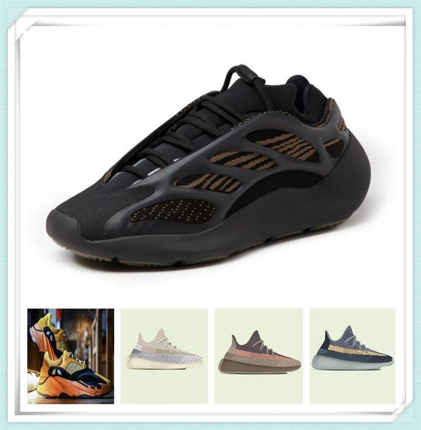 Hombre para mujer Zapatos deportivos 2021 Kanye West Sun Yecoraite Ash-Stone Ash-Blue Clay Reflective Casual zapatillas de zapatillas de viaje Tamaño 36-48