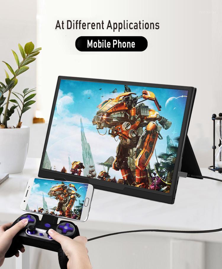 Monitor portátil de 15.6 pulgadas Portátiles 1080P HDR IPS Monitor de juego con USB Tipo C Mini para teléfono portátil PC XBOX PS41