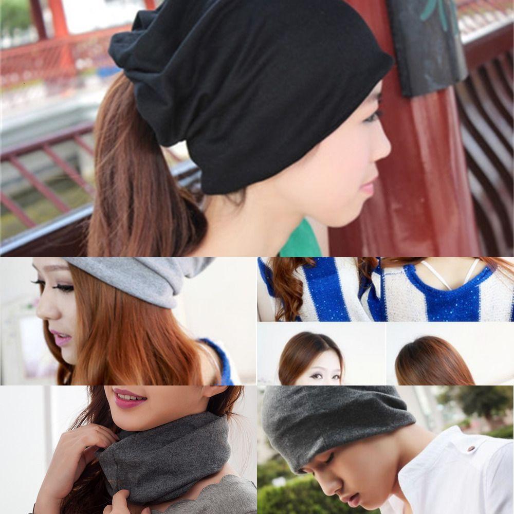 1 Hut Mehrzweckschal Baumwolle in den Mützen tragen Nackengesichtsmaske wärmer 3 Turban Freies Verschiffen