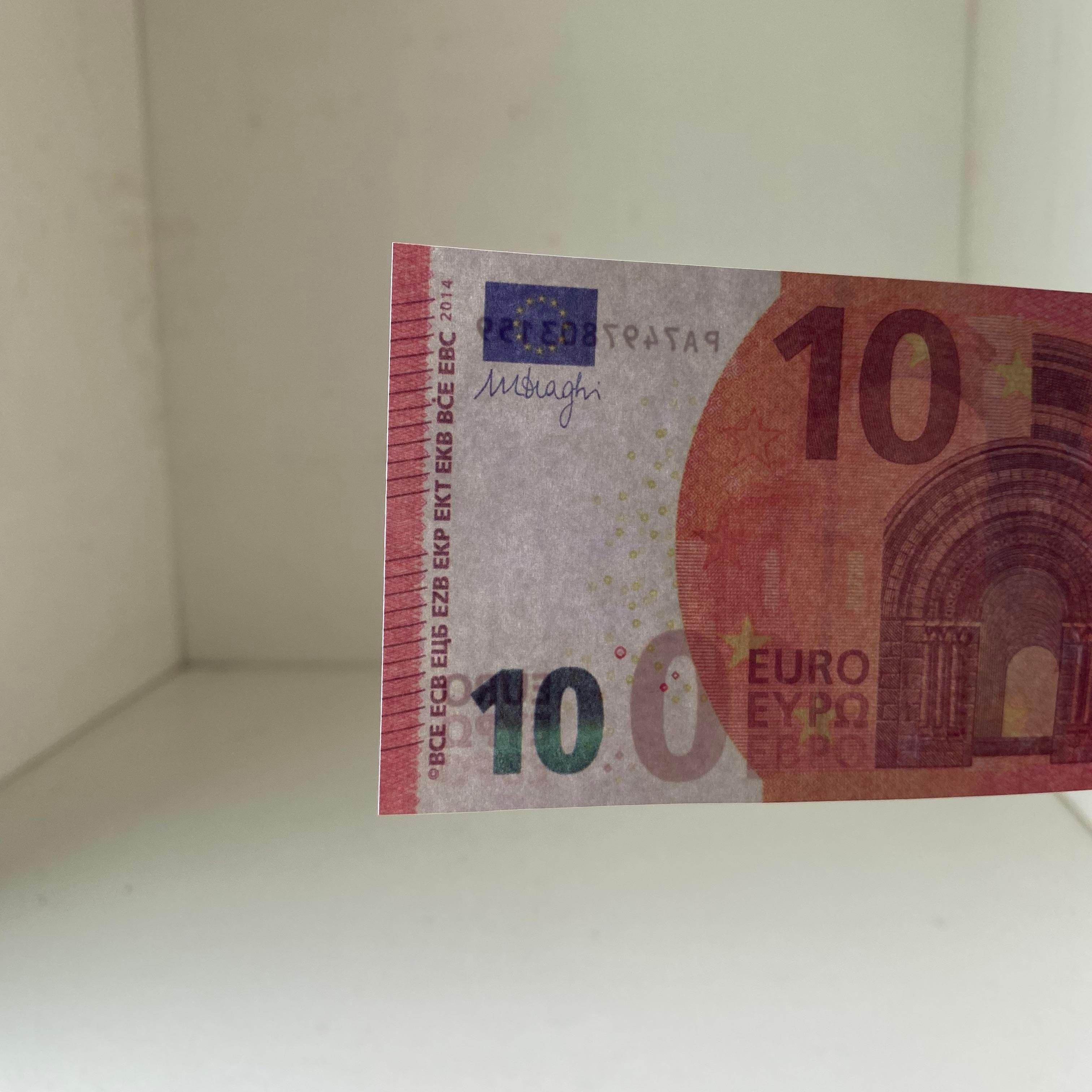 000 NightClub Искусственный высококачественный реквизит бар Притворись поддельные и деньги деньги евро деньги кино 10 заготовки заготовки евро играть коллекция поддельных подарков QRFN