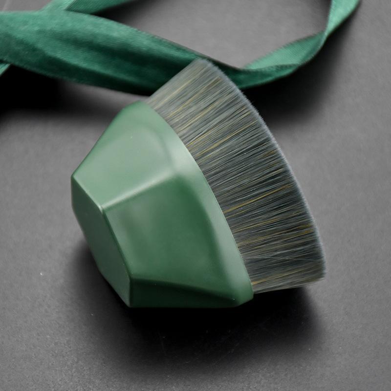 55 Foundation escova da composição Flat Top Kabuki Hexagon Rosto Blush Brush Foundation Pó para creme ou Cosmetics Flawless-Pó
