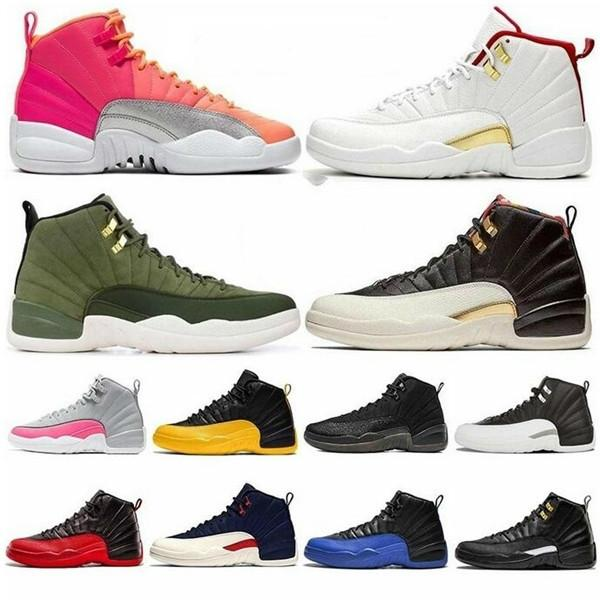 Cheap Free Shippment 12 Dark Grey Mens Basketball Shoes Game Royal FIBA 12s International Flight CLASS OF 2003 Michigan Outdoor Sneakers