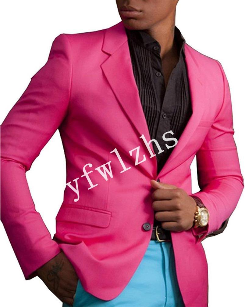 Handsome Two Buttons Groomsmen Notch Lapel Groom Tuxedos Mens Wedding Dress Man Jacket Blazer Prom Dinner suits (Jacket+Pants+Tie)W220