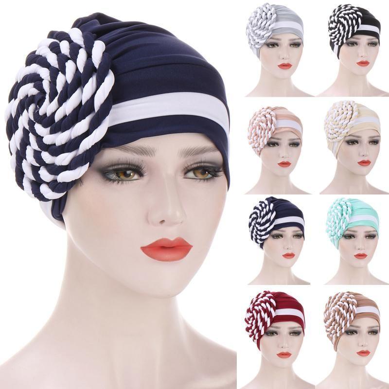 Bere / Kafatası Kapaklar Kadınlar Müslüman Hindistan Kap Bayanlar Çiçek Şapka Beanie Skullies Türban Kemik Boncuk Şapkalar Kanseri İç Zarif