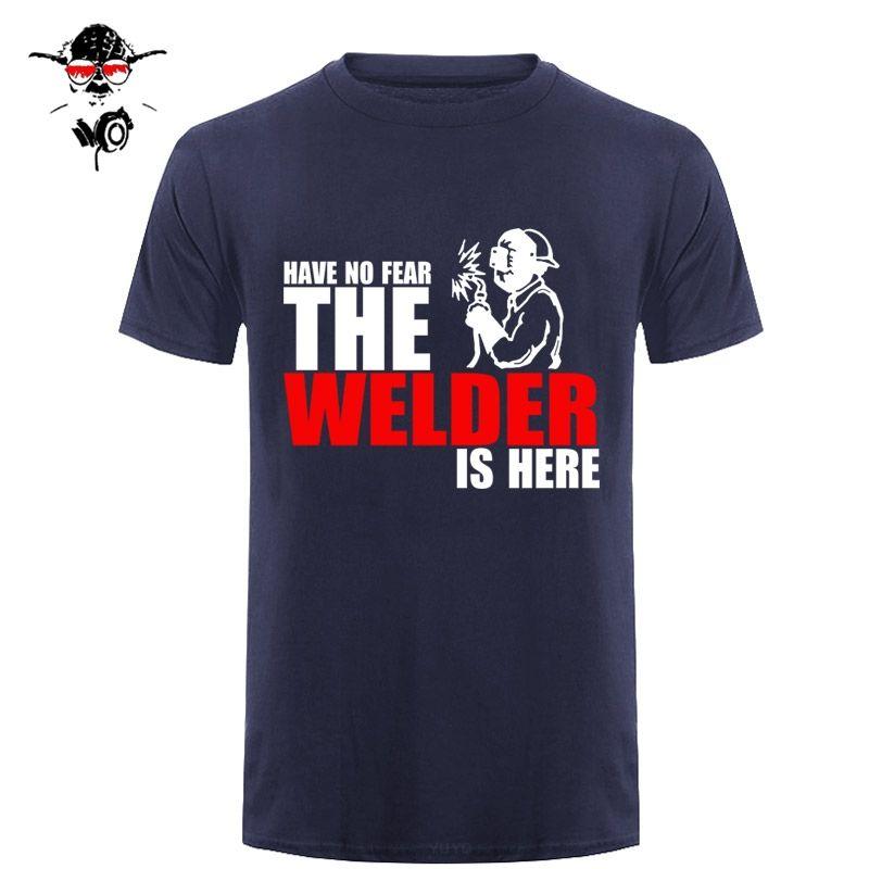 lo sport non hanno paura Il saldatore è qui personalizzato divertente maglietta maglietta a maniche corte uomini cotone Tshirt Top Tees