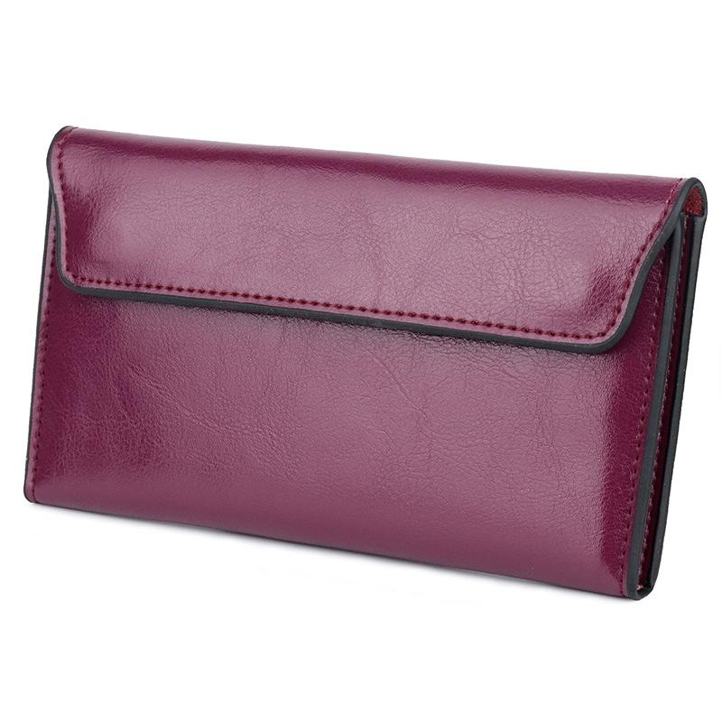 HBP Factory direct cross-border leather large capacity ultra-thin women's wallet fashion simple multi-function ladies
