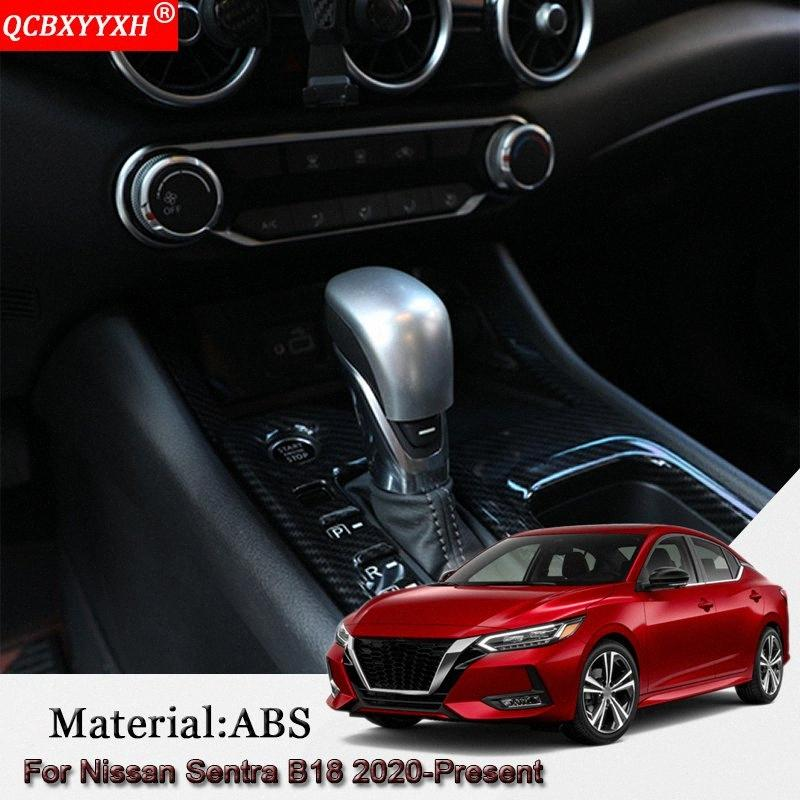 Car Styling ABS Car Automatic Gear Decoration Cover Interior Sequins Auto Sticker Accessories For Sentra B18 2020 Present 3Bik#