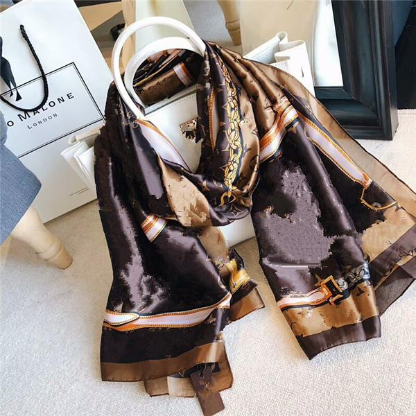 Fashion Women Scarves Peach Blossom Printing Soft Long Wrap Scarf 2019 New Ladies Chiffon Shawl Scarves