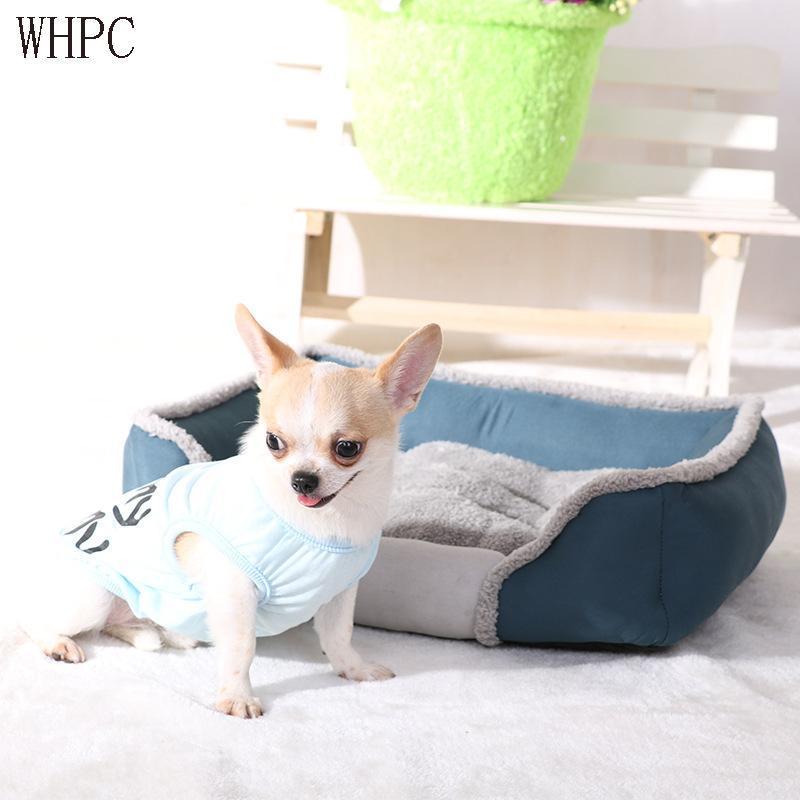Cama de perros WHPC para pequeños perros medianos grandes mascotas Casa de mascotas Fondo impermeable Folleja suave Cuerpo de gato cálido Sofá House House House Tounger para mascotas