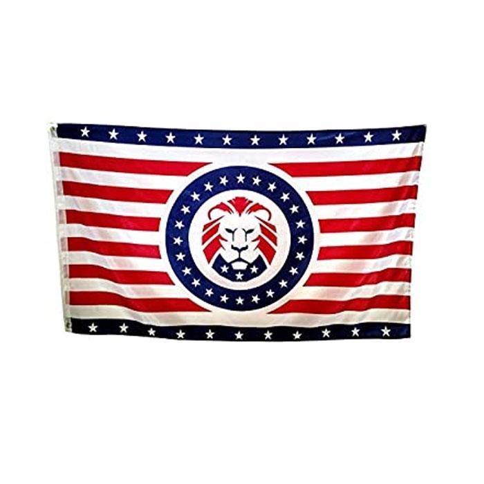 Trump 2024 Maga Lion Flag Fliegende Dekoration 3x5 ft Banner 90x150cm Festival Party Geschenk 100D Polyester Gedruckt Heißer Verkauf!