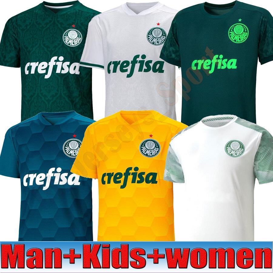20 camisa homens mulher futebol Jersey 2020 Home Green DUDU G.JESUS ALECSANDRO Palmeiras JERSEYS ALLIONE CLEITON Brasil Crianças 21 Palmeiras FUTEBOL