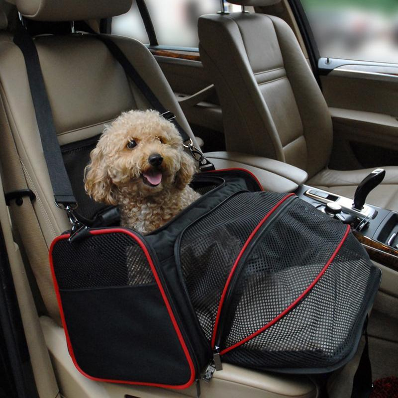 Dog Cat Travel Basket Pet Carrier Bag Oxford Expandable Shoulder Bag Outdoor Car Travel Accessories for Puppy Kitten Small Dogs