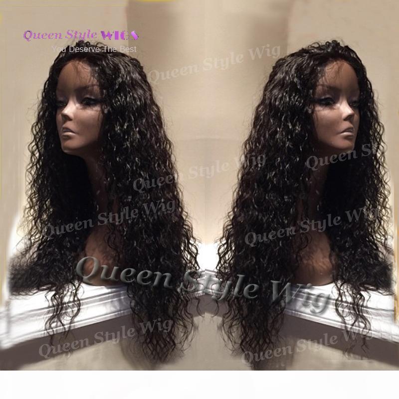 Venta de agua caliente rizado cordón de la onda larga peluca Fron calentar pelo de la fibra sintética peluca Beyonce completa resistente con clip del interior de la tapa