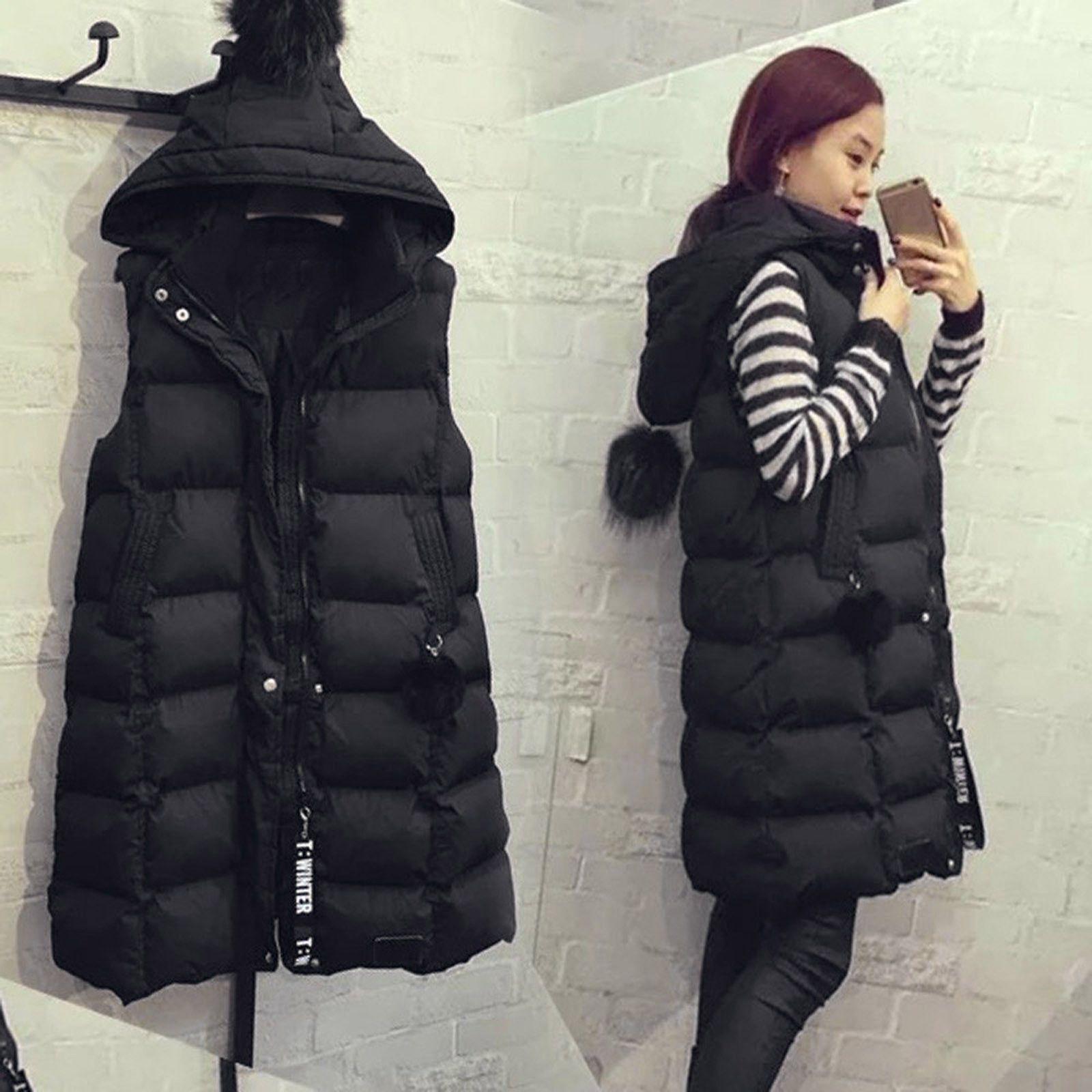 Moda Sonbahar Kış Kadın Yelek 2020 Kadın Kolsuz Ceket Kapşonlu Sıcak Uzun Yelek Ceket Colete Feminino