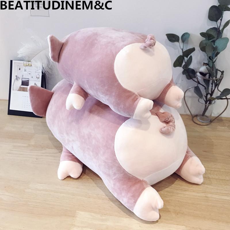 1 шт. 40/60 / 80см персиковый свиньи плюшевые игрушки диван подушка подушка детские игрушки детские успокаивает игрушки дома украшения подарок