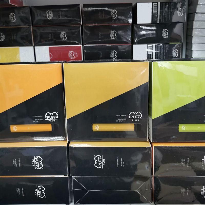 Puff plus dispositif jetable 550mAh Batterie E-Cigarettes 3.2ml POD 800 Puffs Xtra Kits de Vape Bar à barrage XL