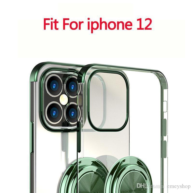 designer de luxo Iphone 12 11 pro max x xs 7 8 mais Capas de telefone com suporte Anel Kickstand para Iphone 12promax 12max / Pro 11 Promax 11Pro