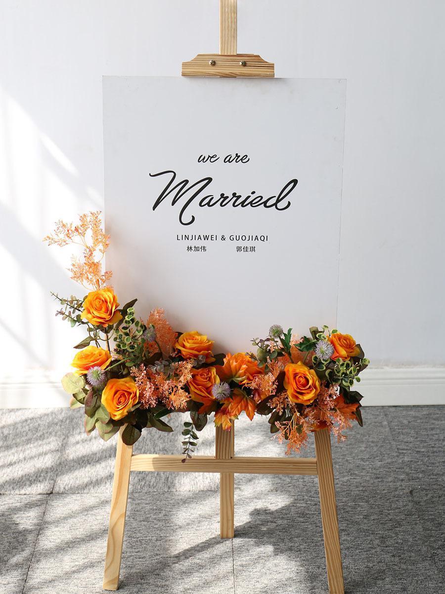 Mariage Flower Row Welccuillant Simulation Simulation Floral Hôtel Creative Guide Création Décorations Photographie Props Home Porte Fleur Z1119