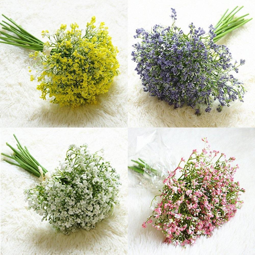 16PCS Artificial Fake Flowers Gypsophila Silk Bouquet Home Decor Wedding Party