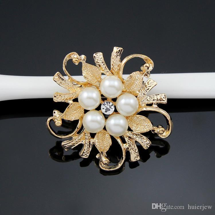 Brooches For Women Exquisite Wedding Brooch Pins Silver Gold Elegant Women Rhineston Brooch