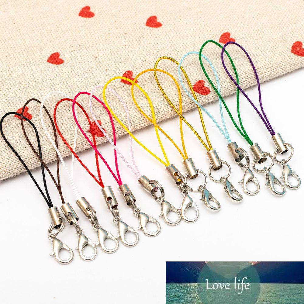 10 unids / lote llavero correa cuerda de cuerda llavero llavero llavero de langosta corchete de telefonía móvil lanyard bricolaje joyería kpop accesorios