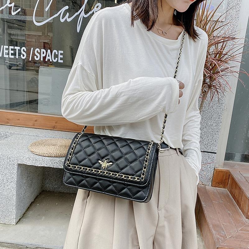 nueva cadena de Lingge tendencia del ocio moda del hombro bolsita pequeña bolsa de estilo externa Plazoleta cuadrado versátil bolso de las mujeres r4qnL