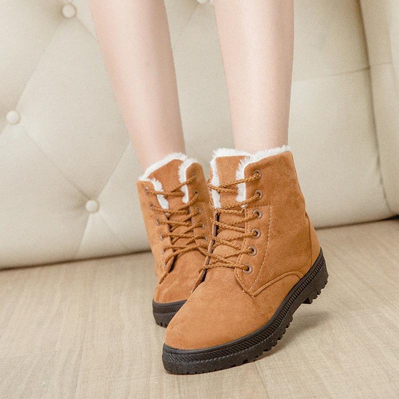 Inverno nuovo stile caldo scarpe di cuoio Womens neve svedese tacco basso scarpe da donna casual fascia elastica sporto Stivali Ragazzi Stivali Da, $ 32.39 | 9HK7 #