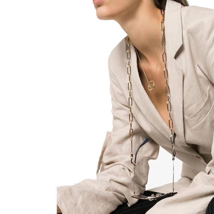1 UNID 2020 Nueva Moda Paperclip Enlace Mascarilla Cara Collar Cadena Cadena Cadena Cadena Cadena Gafas de Sol Titular Máscara de correa Cuerda con Clip1