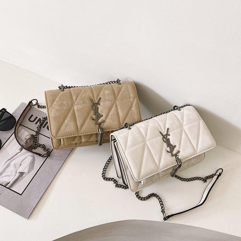 2020 nuevo de la manera Plazoleta Cruzado Bolsas para mujeres Obra clásica de color sólido del bolso de hombro de lujo del diseñador bolsos de las señoras