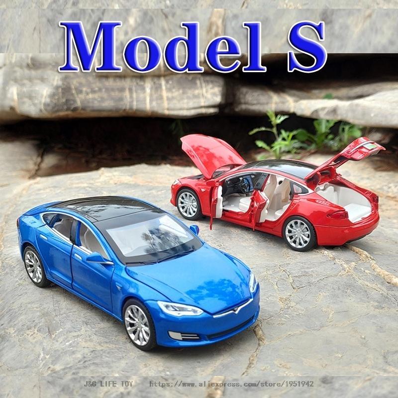 Neue 1:32 Tesla Modell S Legierung Auto Modell Diecasts Spielzeugfahrzeuge Spielzeugautos Freies Verschiffen Kind Spielzeug für Kinder Geschenke Jungen Spielzeug LJ200930