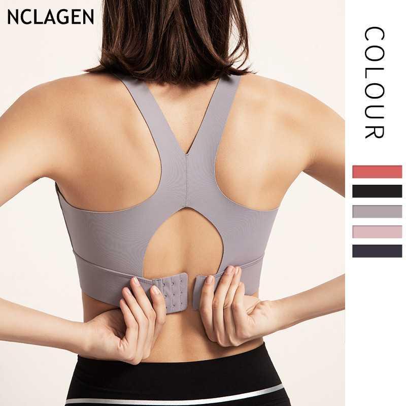 NCLAGEN Sports Unterwäsche BH Jogging Fitness-BH Frauen Yoga-Gymnastik Sport Workout Push-up Crop Top Fitness Training Sexy Vest