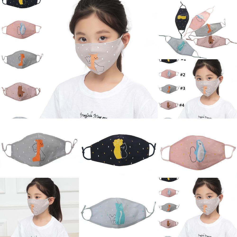 Gatto lavabile animale per bambini viso stampato polvere maschera maschera bocca maschere cartone animato riutilizzabile maschera protettiva bambini moda shield y9