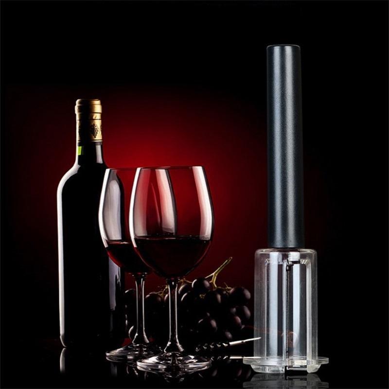 أدوات المطبخ الفولاذ المقاوم للصدأ 4 قطع دعوى سبيكة سبائك الألومنيوم الأسود نوع هوائي نوع يمكن فتاحة زجاجات النبيذ متعددة الوظائف جديد 17LN O2