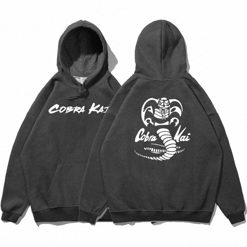 Cobra-Kai двусторонние отпечатки капюшонов женская осень удобная одежда Crewneck старинная толстовка пуловер флис женские толстовки # TF1O