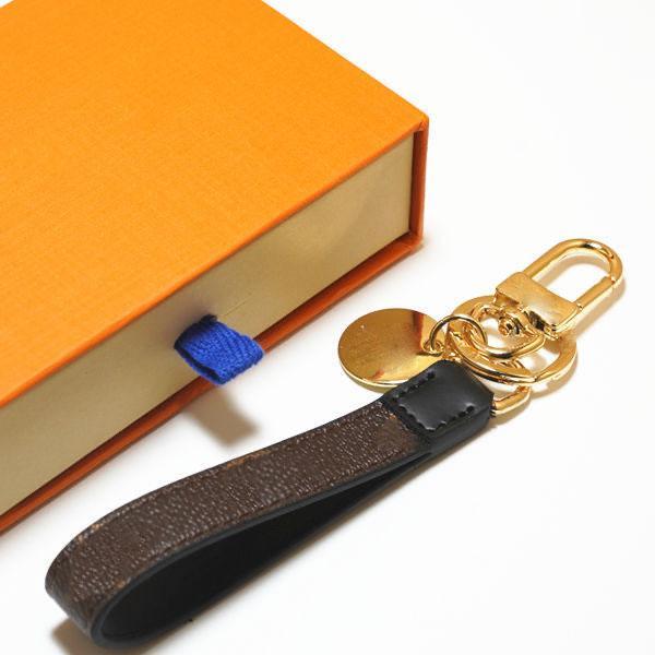 Vente en gros de la chaîne de clés en cuir de haute qualité à la mode classique de sacs classique Suspensoires avec emballage de la boîte