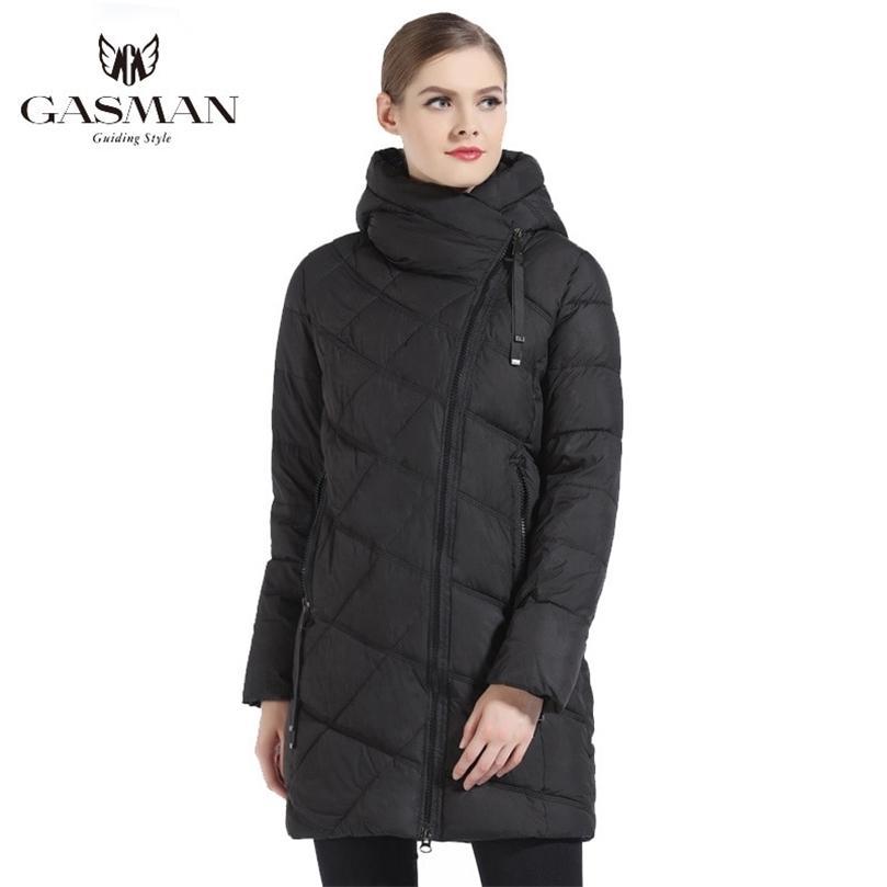 Gazman Moda Kadınlar Kapüşonlu Parka Aşağı Kış Marka Aşağı Ceket Kadınlar Kış Kalın Palto Kadın Jacets ve Coat 18806 201212