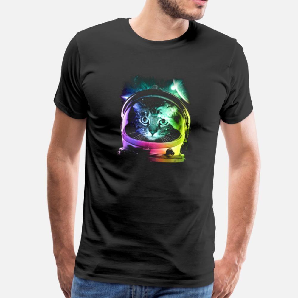 L'espace de chat T-shirt personnalisé rétro Taille Plus Survêtement Sweat-shirt à capuche